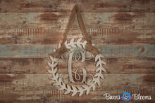 Roman Wreath Monogram Door Hanger