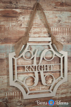 Victorian Monogram Door Hanger with Family Name