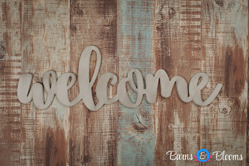 Welcome handwritten font wall hanging