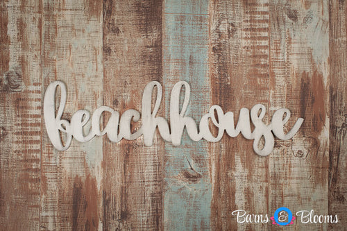 Beach house handwritten font wall hanging
