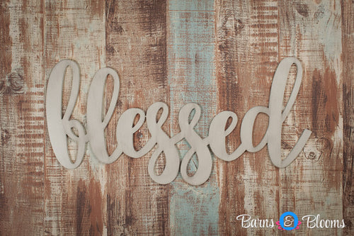 Blessed handwritten font wall hanging