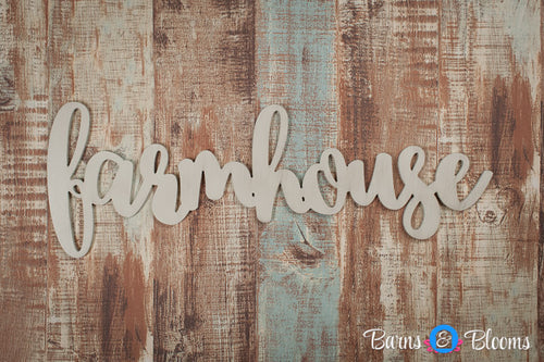 Farmhouse handwritten font wall hanging