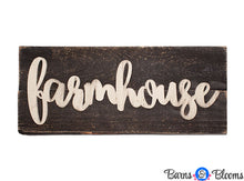 Farmhouse on Weathered Wood Dark