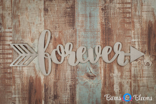 Handwritten Forever Arrow Wall Decor