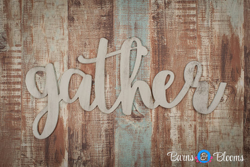 Gather handwritten font wall hanging