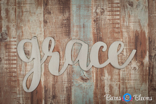 Grace handwritten font wall hanging