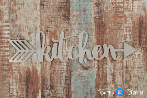 Handwritten Kitchen Arrow Wall Decor