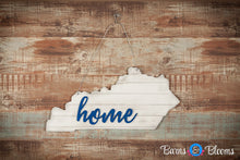 Distressed Kentucky Home State Door Hanger