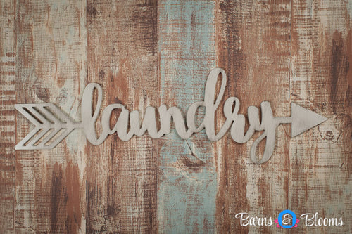 Handwritten Laundry Arrow Wall Decor