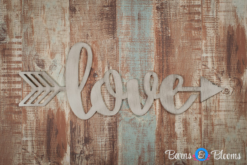 Handwritten Love Arrow Wall Decor
