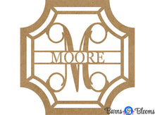Unpainted Victorian Monogram Name Door Hanger