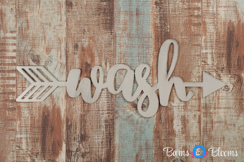 Handwritten Wash Arrow Wall Decor