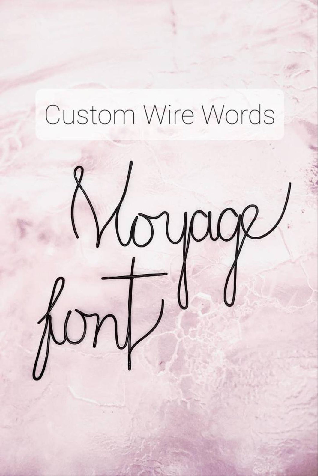 Custom Wire Wall Words, Voyage Font
