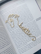 Personalized horse bookmark