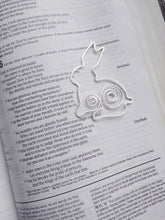 Rabbit Bookmark, Bunny Bookmark