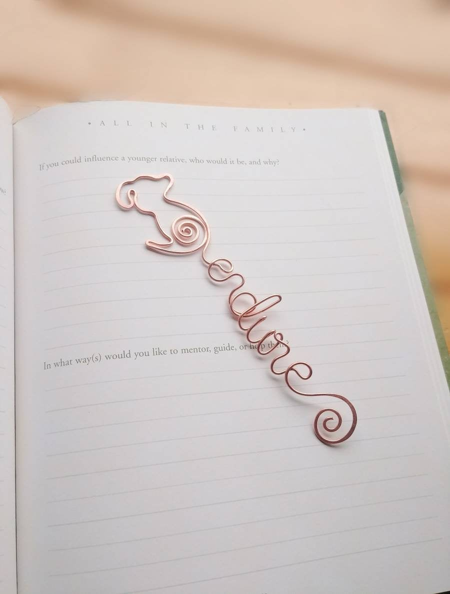 Personalized dog bookmark