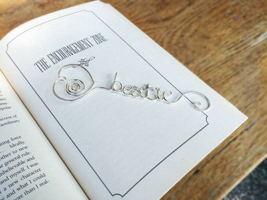 Personalized heart bookmark