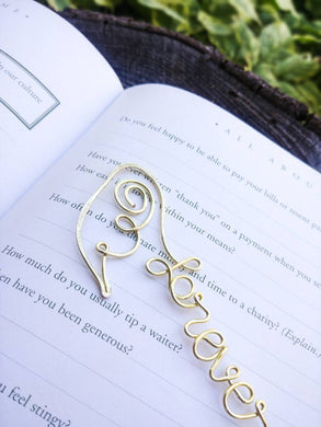 Personalized Memorial Gift, Angel Wings Bookmark