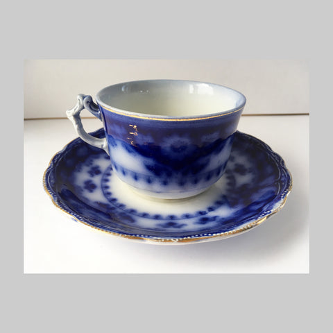 Crumlin Flow Blue Cup and Saucer main image
