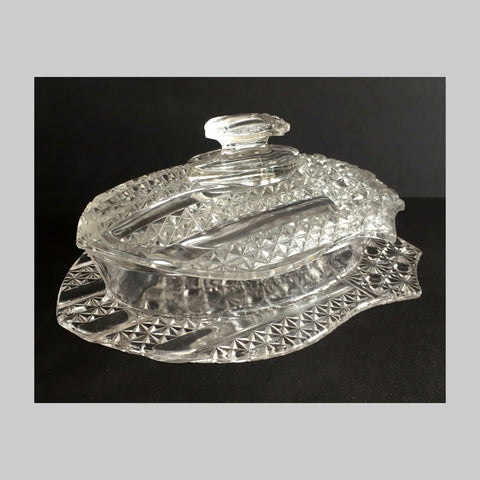 EAPG Banner pattern butter dish main image