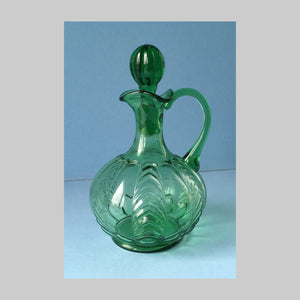 EAPG green Florida pattern cruet main image