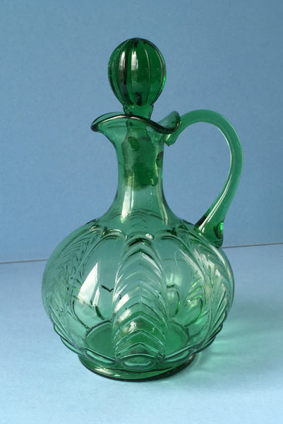 EAPG green Florida pattern cruet full image 2