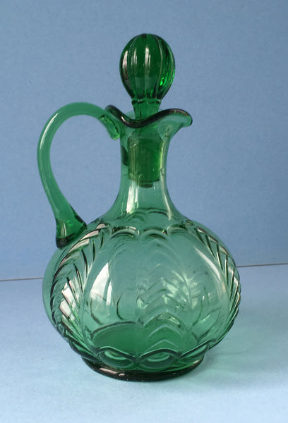 EAPG green Florida pattern cruet full image 1