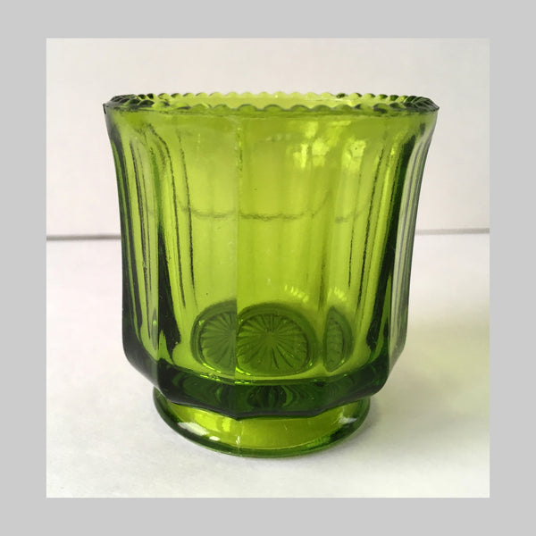 EAPG Colonial Cambridge Green Glass Toothpick Holder main image
