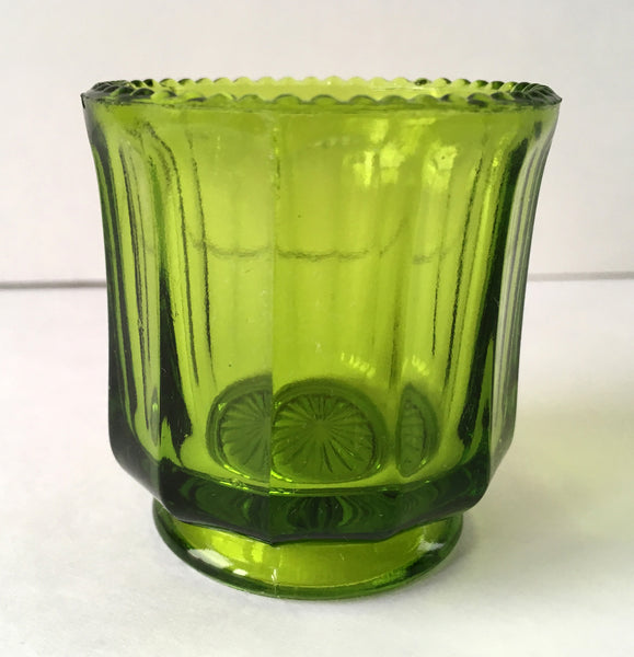 EAPG Colonial Cambridge Green Glass Toothpick Holder full image