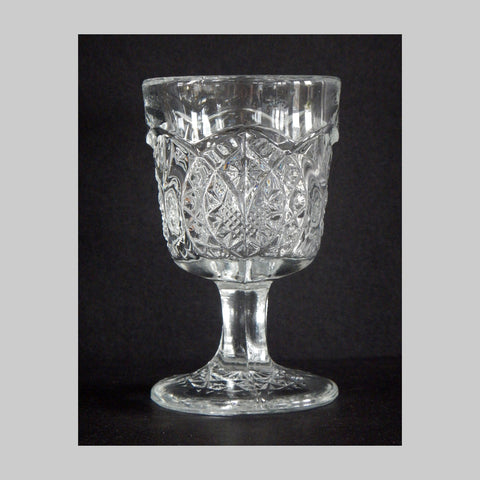 EAPG Arrowhead In Oval pattern wine glass main image