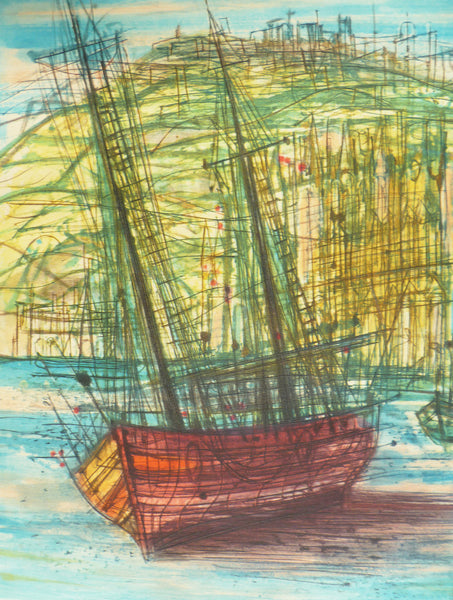 Jean Carzou Colour Etching close up image