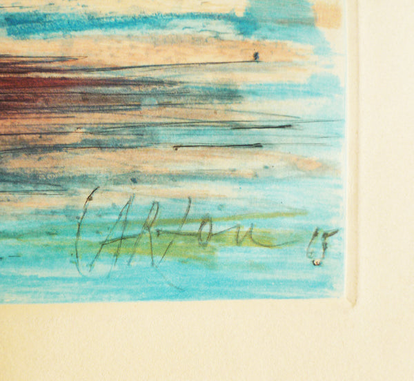 Jean Carzou Colour Etching signature image