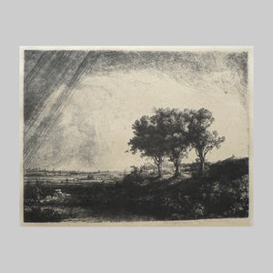 Original Rembrandt plate restrike The Three Trees main image