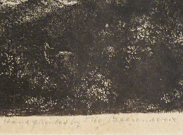 Original Rembrandt plate restrike The Three Trees signature view image