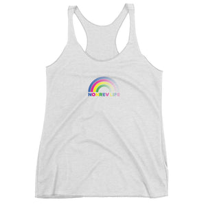 Rainbow Ladies Triblend Racerback Tank