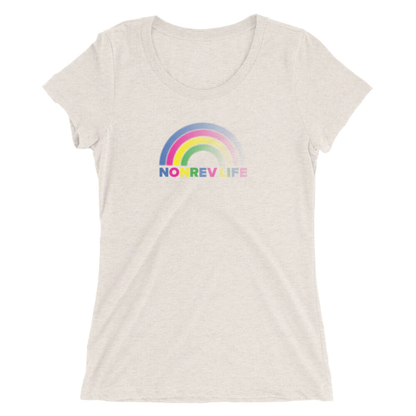 Rainbow Ladies Triblend Short Sleeve T-Shirt