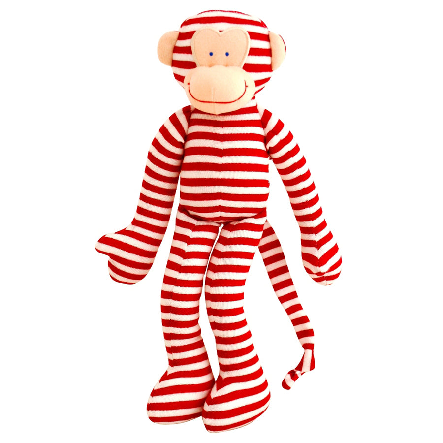Alimrose Monkey Rattle Red Stripe 30cm