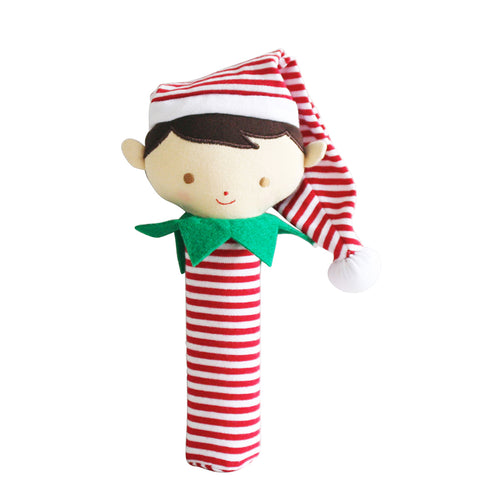 Alimrose Cheeky Elf Boy Squeaker Red Stripe