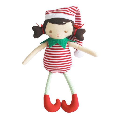 Alimrose Cheeky Girl Elf Rattle Red Stripe