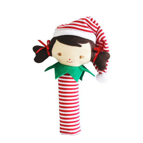 Alimrose Cheeky Elf Girl Squeaker Red Stripe