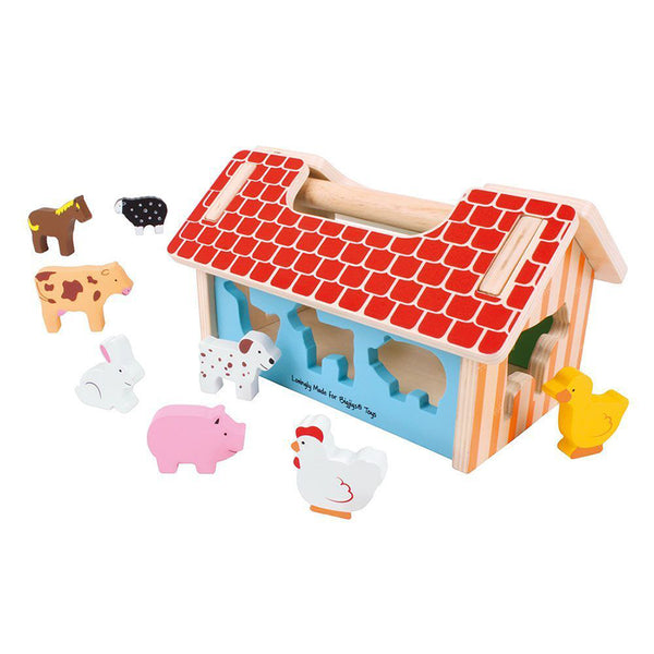 Bigjigs Wooden Farmhouse Sorter