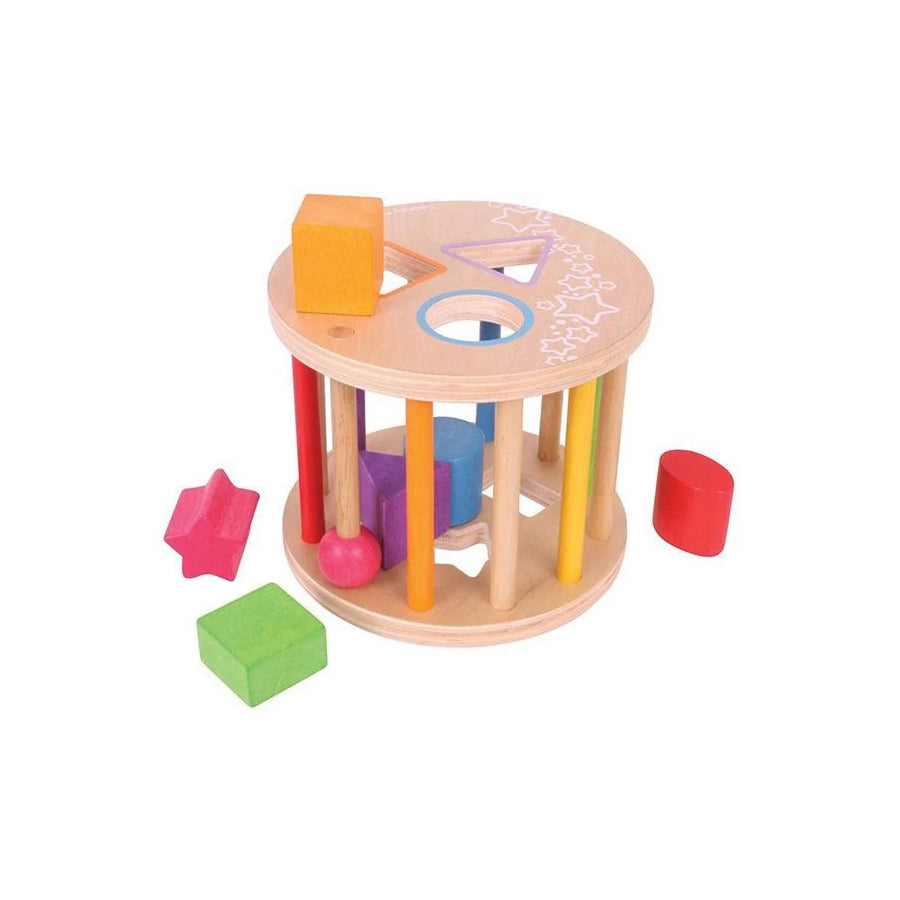 Bigjigs Wooden First Rolling Shape Sorter