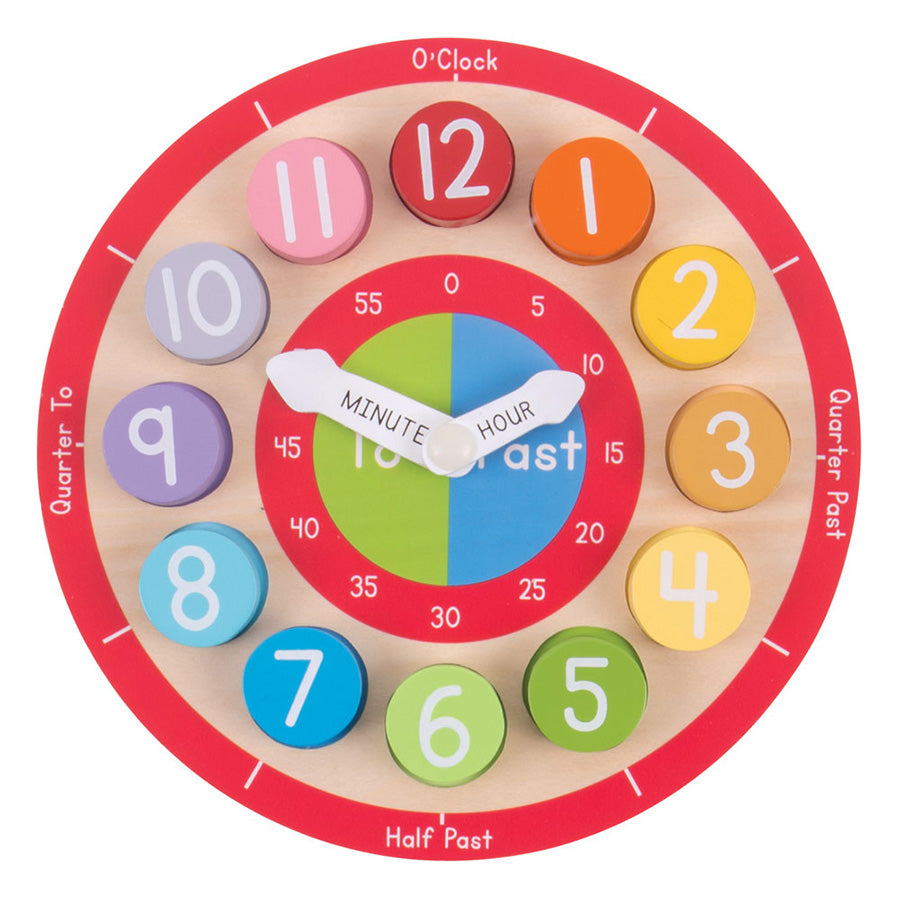 Bigjigs Wooden Teaching Clock