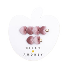 Billy Loves Audrey Velvet Hearts Luxe Hair Clips