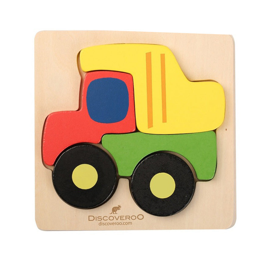 Discoveroo Chunky Wooden Puzzle Vehicles
