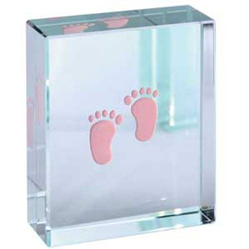 Spaceform Baby Feet Glass Keepsake