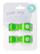 All4Ella Pram Pegs Fluro Green