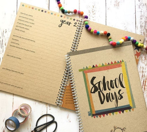 RhiCreative School Days Memory Book