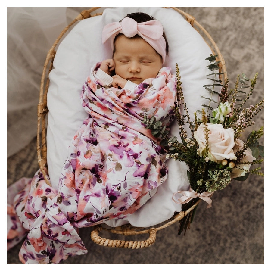 Snuggle Hunny Kids Blushing Beauty Organic Muslin Wrap