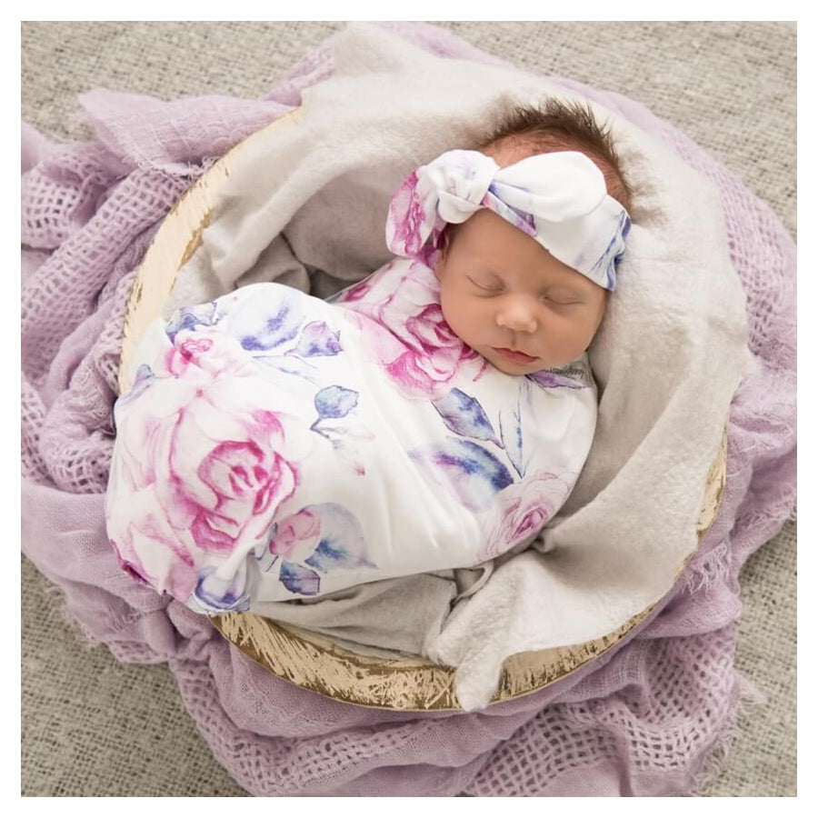 Snuggle Hunny Kids Stretch Cotton Baby Wrap Set Lilac Skies